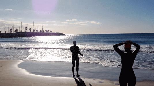 jorge guzman entrenos personales natacion aguas abiertas barcelona sitges
