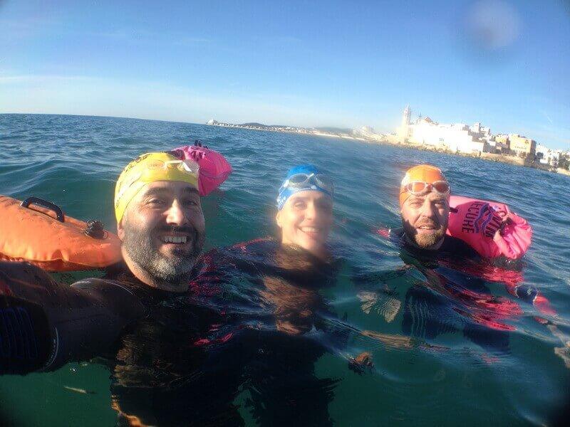 Clases de natación para adultos en el mar en Barcelona y Sitges