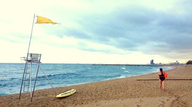 Playas de Barcelona donde hago las clases de natación en el mar