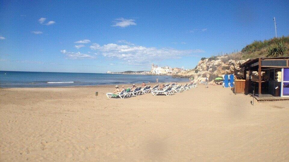 cala balmins playas de sitges donde nadar jorge guzman entrenador personal natacion sitges