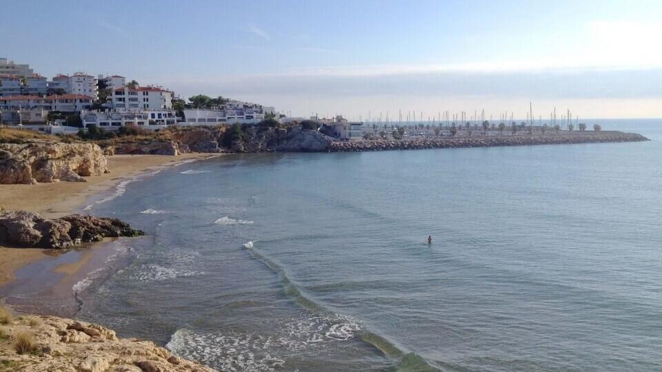 Playas de Sitges donde hago las clases de natación en el mar